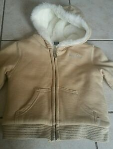EUC-Baby-Gap-Toddler-Hoodie-fur-jacletr-Size-3