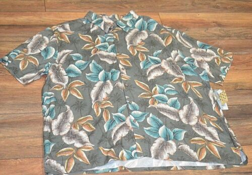 Palm Leaves  Batik Bay Machine Washable Button Down Hawaiian Shirt 100/% Rayon