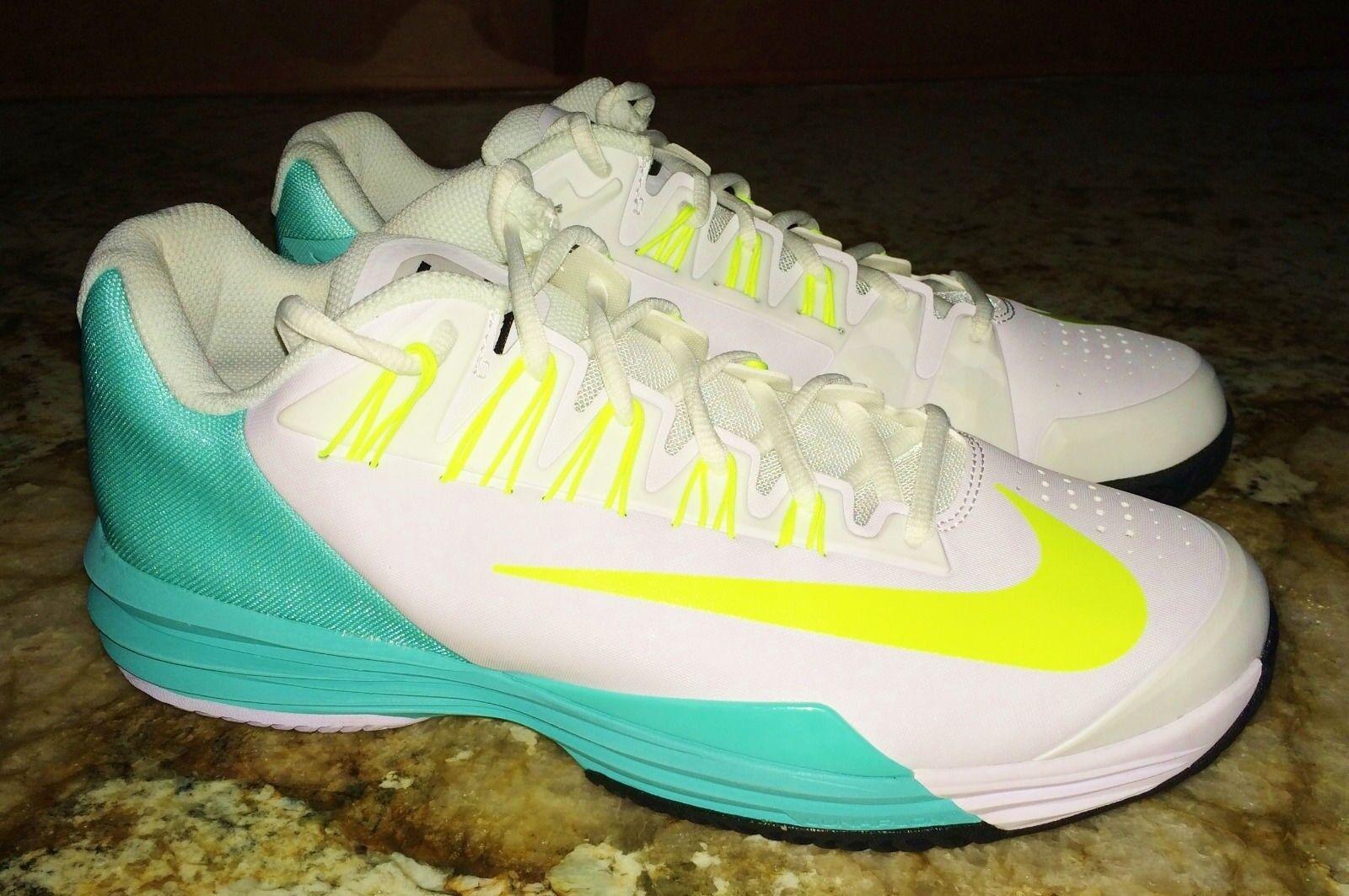 NIKE Lunar Ballistec White Volt Volt Volt Hyper Turquoise Tennis shoes NEW Womens Sz 11.5 0ae173