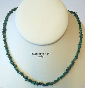 NATURAL-MALACHITE-CRYSTAL-CHIP-NECKLACE-BEAD-18-034