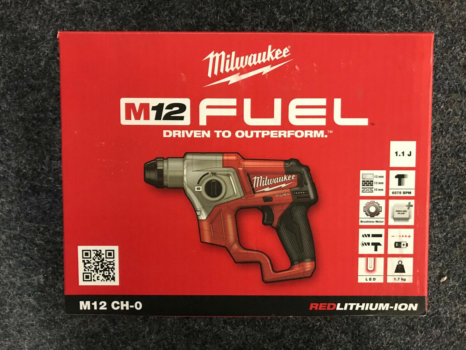 Milwaukee Akku-Bohrhammer FUEL M12 CH-0 Solo ohne Akku ohne Lader im Karton