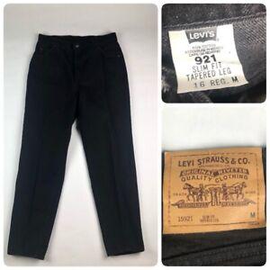 de1086ecfa Vintage Levis 921 Jeans Womens Size 16 Black Tapered Slim Fit High ...