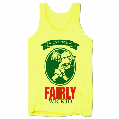 Fairly Wickid Stoner Weed Cannabis Marijana 420 THC Mens Holiday Low Cut Vest