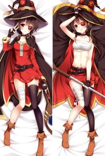 """59/"""" KonoSuba Dakimakura Megumin Anime Girl Hugging Body Pillow Case Cover 150cm"""
