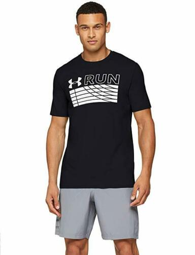 """Under Armour Men/'s Run Track T-shirt Graphique /""""Taille X-Large/"""" pour femme noire BNWT."""