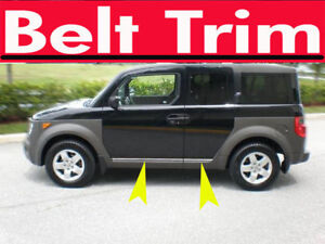 Land Rover LR3 Discovery CHROME SIDE BELT TRIM DOOR MOLDING 2005 06 07 08
