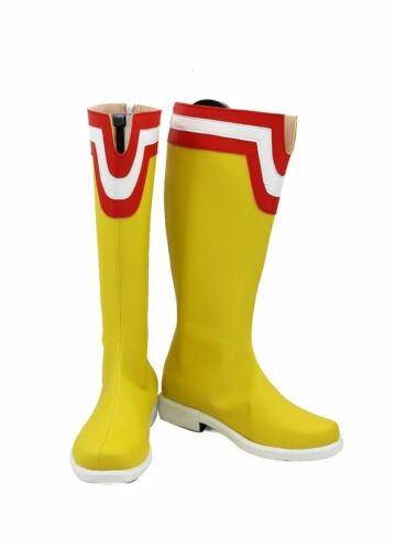 Mon héros Academia tous pourraient Jaune Bottes Cosplay shoes custom made Halloween FF