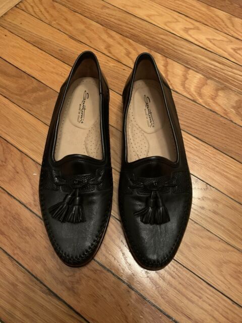 Mens Size 9.5 Black Leather Loafers