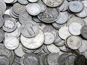 1-Face-Value-US-90-Silver-Coins-lot-1964-or-older-Dimes-Quarters-Half-Dollars