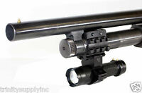 Mossberg 500 Remington 870 Shotgun Barrel Mount & 350 Lumen Flashlight.