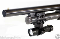 Mossberg 500 Upgrades Remington 870 Part Shotgun Barrel Mount & 350 Lumen Light.