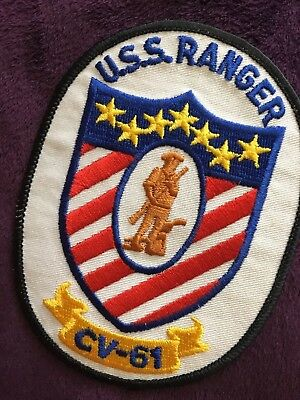 USS Ranger CV-61, vintage collector patch.
