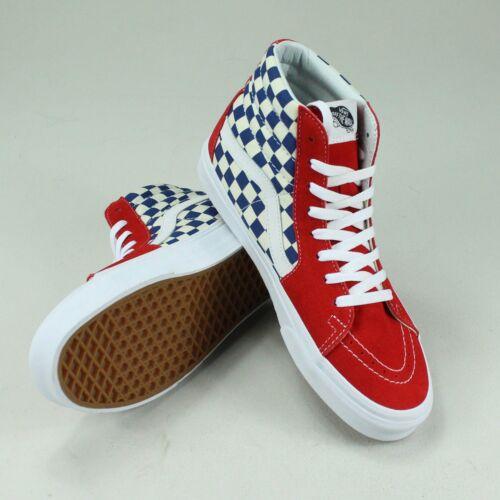 8 Uk blue Sk8 9 blu Taglia 6 in Scarpe 10 True Shoes rosso da Hi Red Bmx Scacchiera Vans 7 ginnastica qw1Aff
