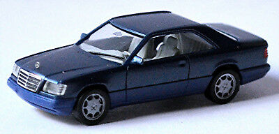 Model Building Mercedes Benz E-class E320 Coupe C124 Facelift 1993-96 Nautic Blue 1:87 Herpa
