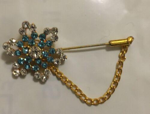 * Nuevo Broche Pin Diamante Cristal Hijab Bufanda en corazón diamante en blanco