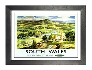 GWR-South-Wales-Railway-Vintage-See-Britain-By-Train-Print-Old-Advert-Poster