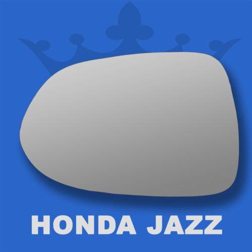 Honda Jazz wing door mirror glass 2002-2008 Left Passenger side Flat