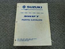 1991 Suzuki Swift Parts Catalog Manual Sedan Hatchback GA GS GT 1.3L