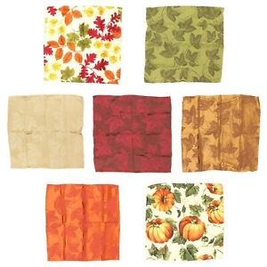 Harvest-Season-Fall-Autumn-Thanksgiving-Napkins-Cascading-Leaves-Set-of-4