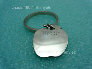 Tiffany-amp-Co-Apple-Solid-Silver-Key-Chain-Ring