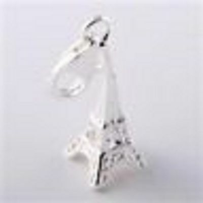 LOVELY SILVER EIFFEL TOWER CLIP-ON CHARM FOR BRACELETS - NEW