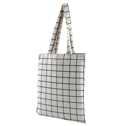 Women Linen Cotton Shopping Shoulder Bag Canvas Purse Tote Totes Handbag LG