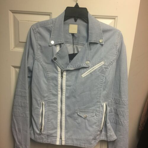 Joe's Striped Taglia Blue Moto Jada L Jacket Jeans rIqxvCrw