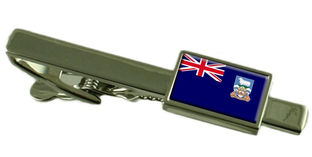 Isole Isole Isole Falkland Tie Clip Bar con incisa personalizzata finestra di messaggio 6f1bb4