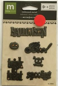 3080-MAKING-MEMORIES-Embossed-Metal-HALLOWEEN-PkgSz-5-1-2-x-3-1-2