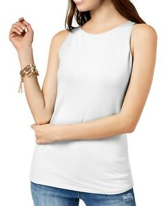 INC-Womens-Tank-Top-White-Size-XL-Double-Layered-Jersey-Knit-Boat-Neck-29-481