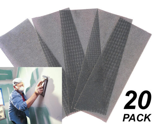 20 Pack Assorted Gyprock Plaster Sanding Screens 93 x 230mm