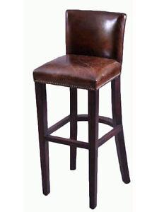 3 er set barhocker smith braun vintage leder designhocker. Black Bedroom Furniture Sets. Home Design Ideas