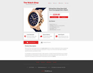 Ebay Html Template Professional Auction Templates Shop Mobile Optimised Uk Red Ebay