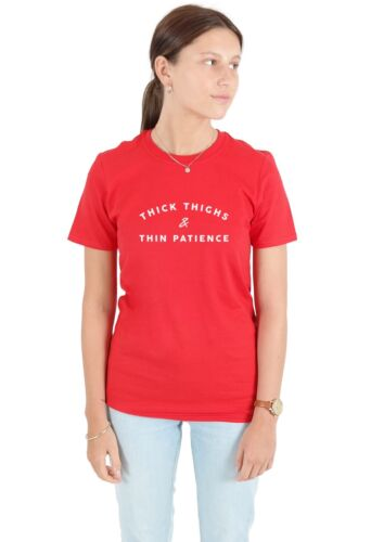 Thick Thighs Thin Patience T-shirt Top Tee Shirt Funny Gym Weightlifting Fitness