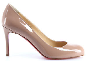 Zapatos-Mujeres-CHRISTIAN-LOUBOUTIN-Decollete-Simple-Pump-85-Patent-Calf-Nude