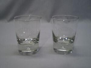 Set of 2 Baileys Irish Cream On the Rocks Old Fashion Glasses Bubble Bottom