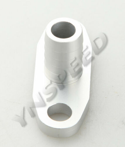 "5//8/"" Male Neck Aluminum Turbo Oil Drain Flange T3 T3//T4 T04 GT40-GT55 Silver"