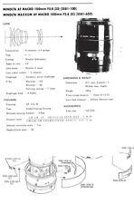 Minolta AF Macro 100mm f2.8 Service Repair Manual