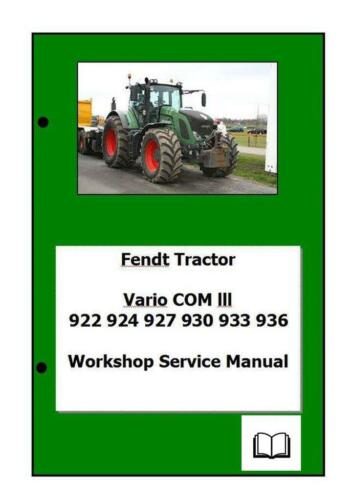 Fendt Vario Com3 922 924 927 930 933 936 Manual de Taller Digital