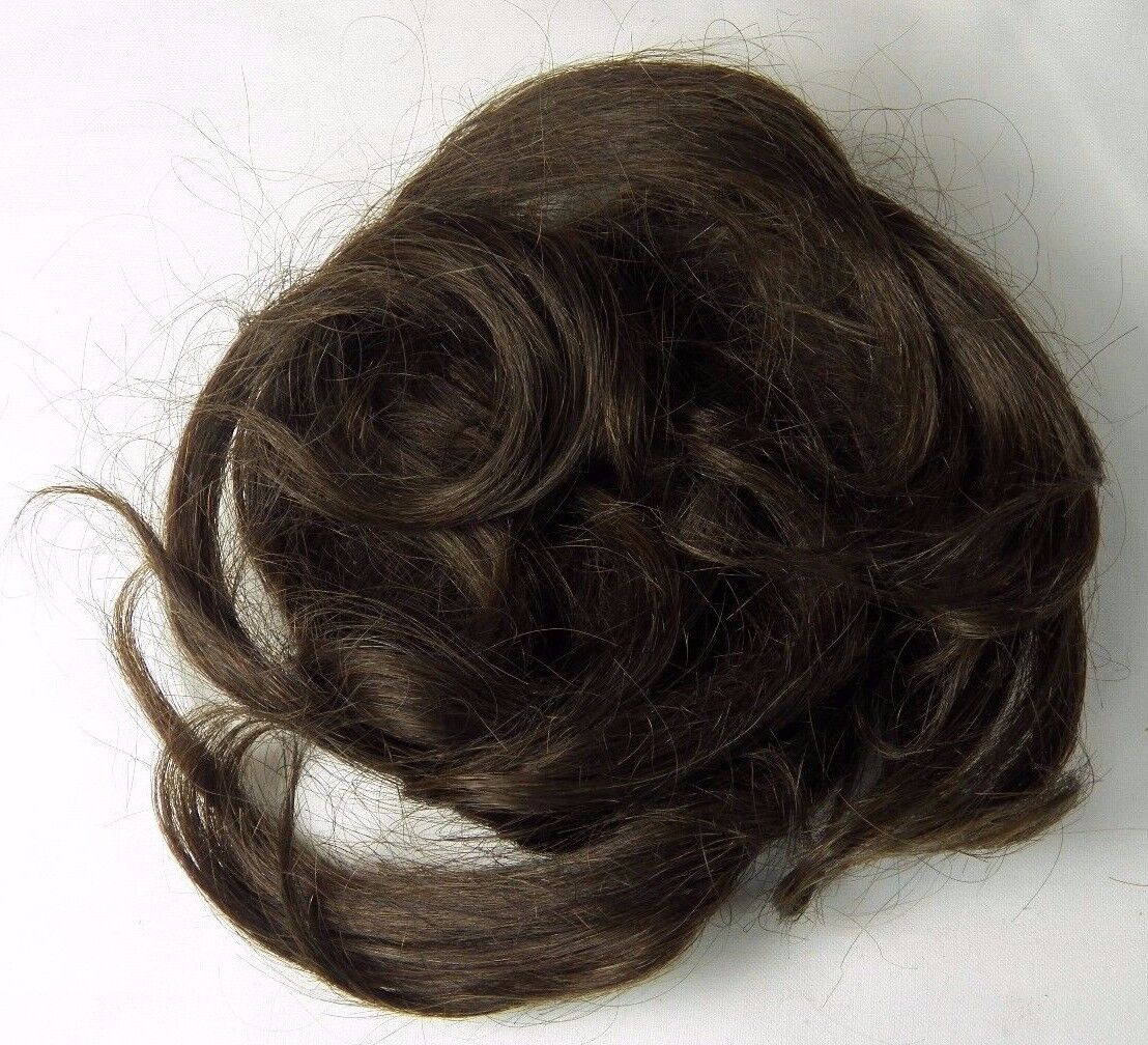 100% Human Hair to Wear or Doll Making Repair CE Cal-East Dark Brunette
