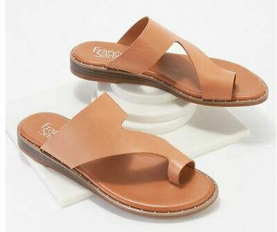 Franco Sarto Leather Toe-Loop Sandals