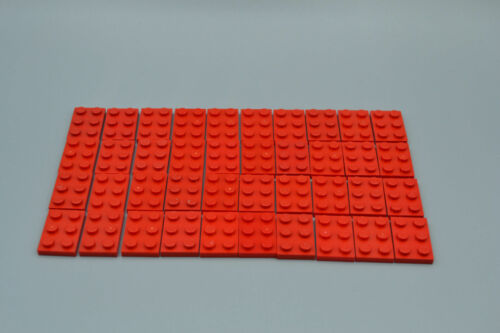Lego 40 x plancha base 2x3 rojo red Basic plate 3021 302121