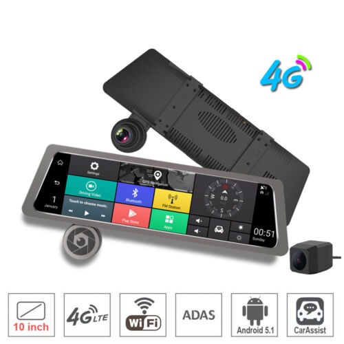 10Full Touch IPS 4G Car DVR Camera Android Wifi Bluetooth smart rearview mirror