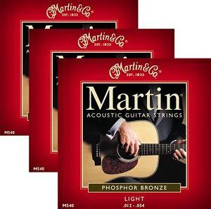 ** 3 Jeux-martin 540 Guitare Acoustique 92/8 Phospher Bronze Light **-afficher Le Titre D'origine