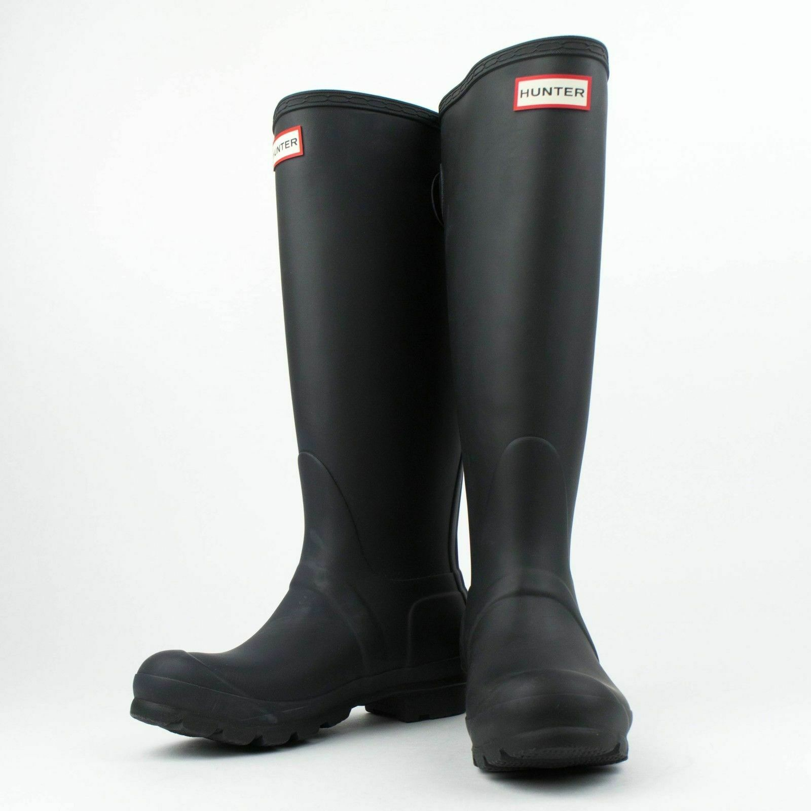 Nuevo En Caja Hunter Negro Original Tall Espalda Ajustable botas De Lluvia Talla EE. UU. 5 Reino Unido 3