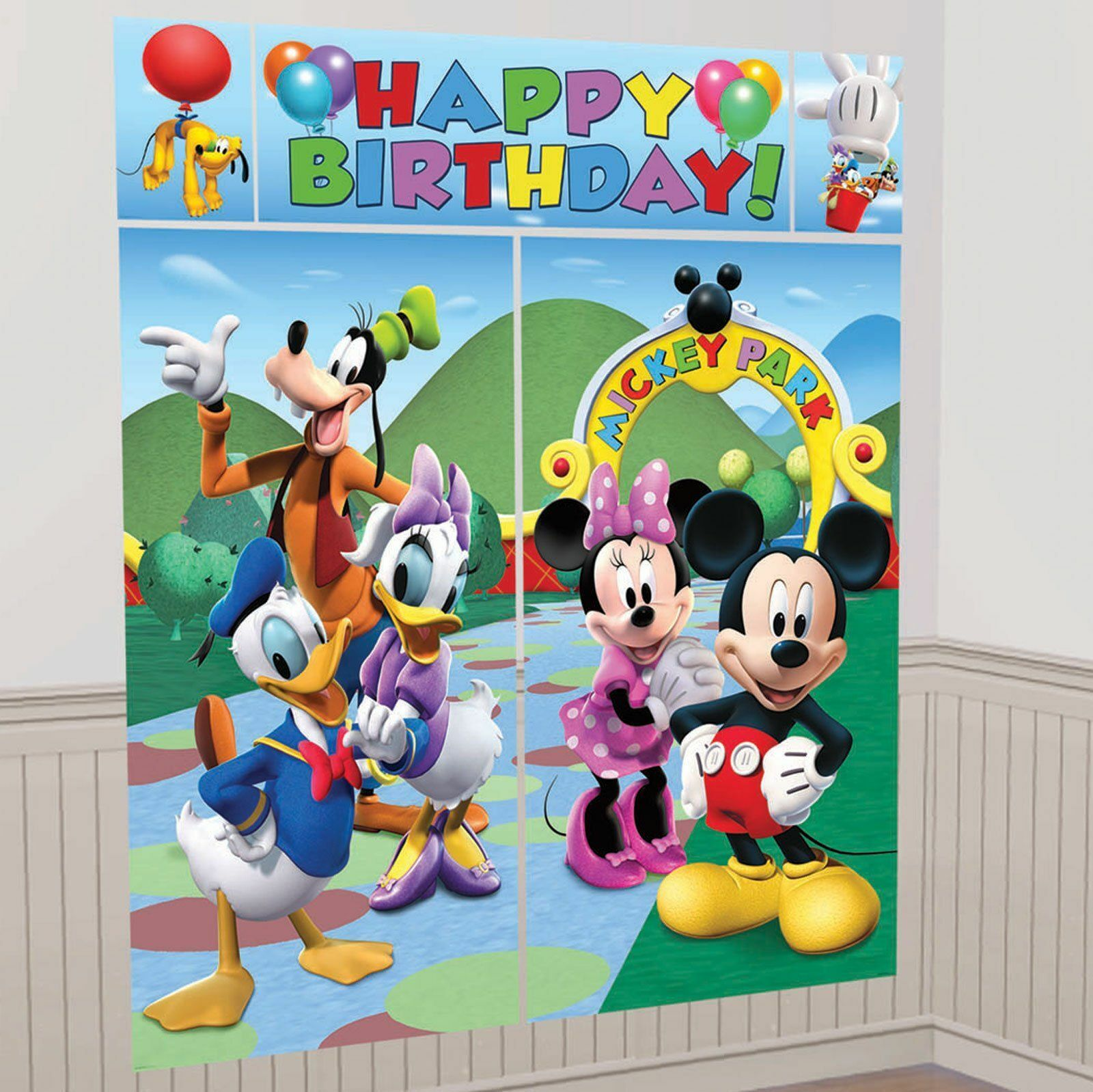 Mickey Mouse Party Decorations Banner 1pc Mickey party Happy Birthday 8/'  Mickey Mouse Party Mickey Banner Mickey Party Mickey Mouse Decorat