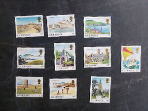 GUERNSEY-1985-DAILY-STAMPS-SET-10-MINT-STAMPS