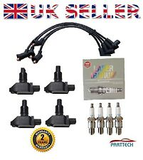 MAZDA RX8 RX 8 RX-8 4 x IGNITION COIL PACKS + x4 NGK SPARK PLUGS +SILICONE LEADS