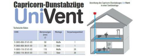 Entlüftungshaube Dunsthut  Dachentlüfter Univent DN 110  110mm