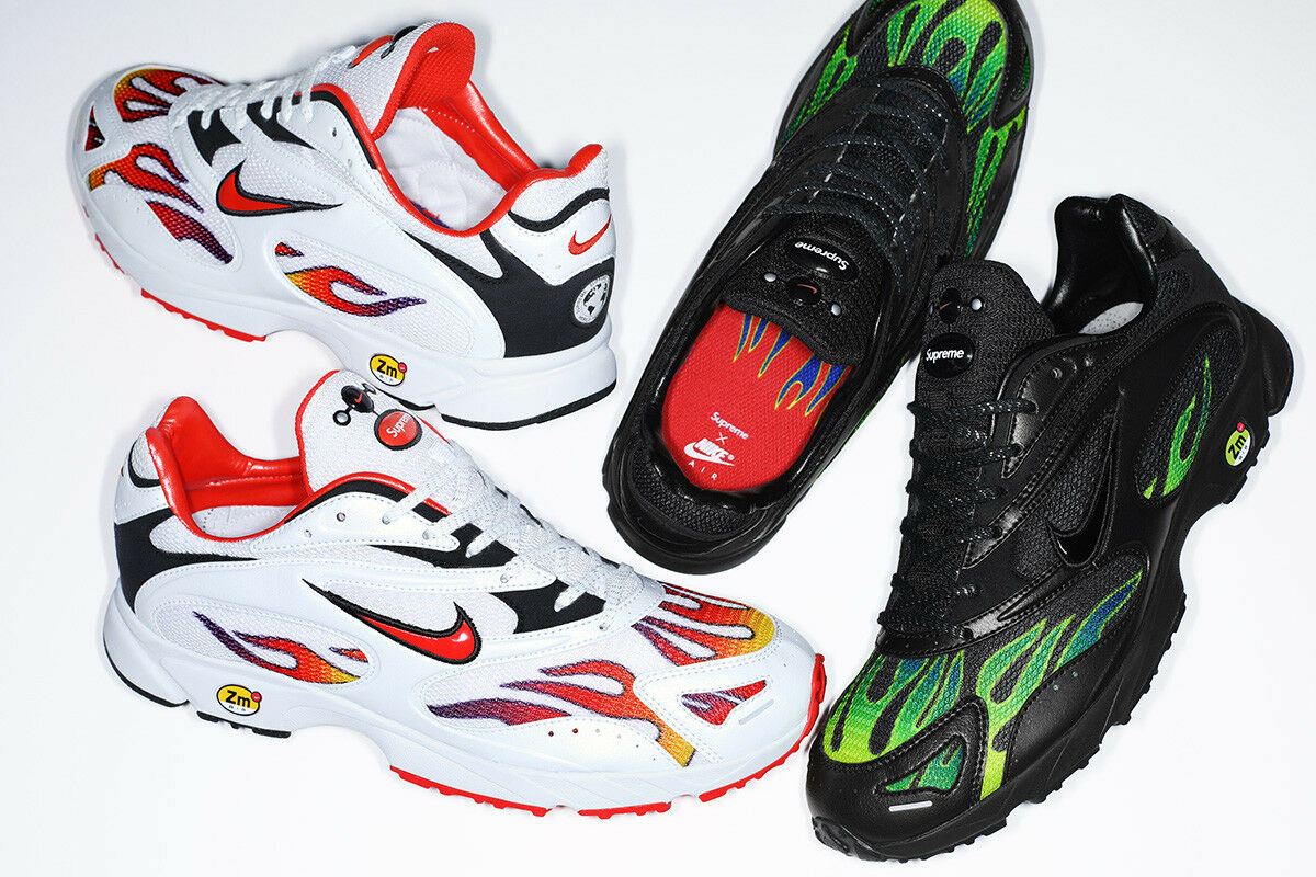 SUPREME Nike Zoom Streak Spectrum Plus nero bianca box logo logo logo lot AQ1279 S S 18 c49409